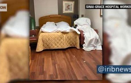 تصاویر لورفته از اجساد انباشتهشده در اتاقهای بیمارستان