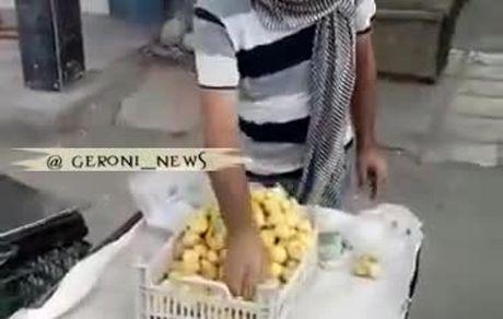 میوه فروشی که انجیر را به دلار می فروشد!