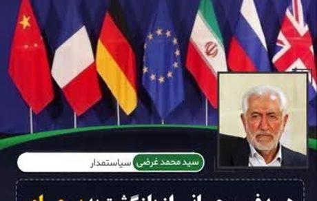 هدف روحانی از بازگشت به برجام حل مشکلات دولت خودش است