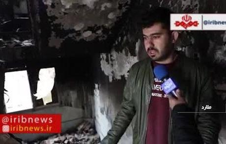 جهیزیه یکی از قهرمانان کاراتهکا در آتش اغتشاشات سوخت