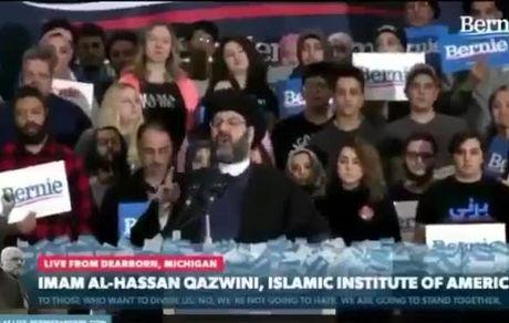 روحانی در میتینگ انتخاباتی برنی سندرز در ایالت میشیگان آمریکا!