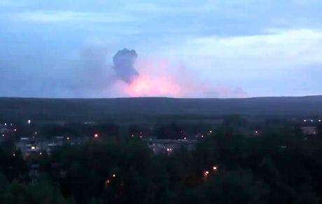 انفجار انبار مهمات در روسیه