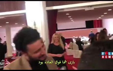 دیدار بازیگر زن سرشناس هالیوود با جواد عزتی